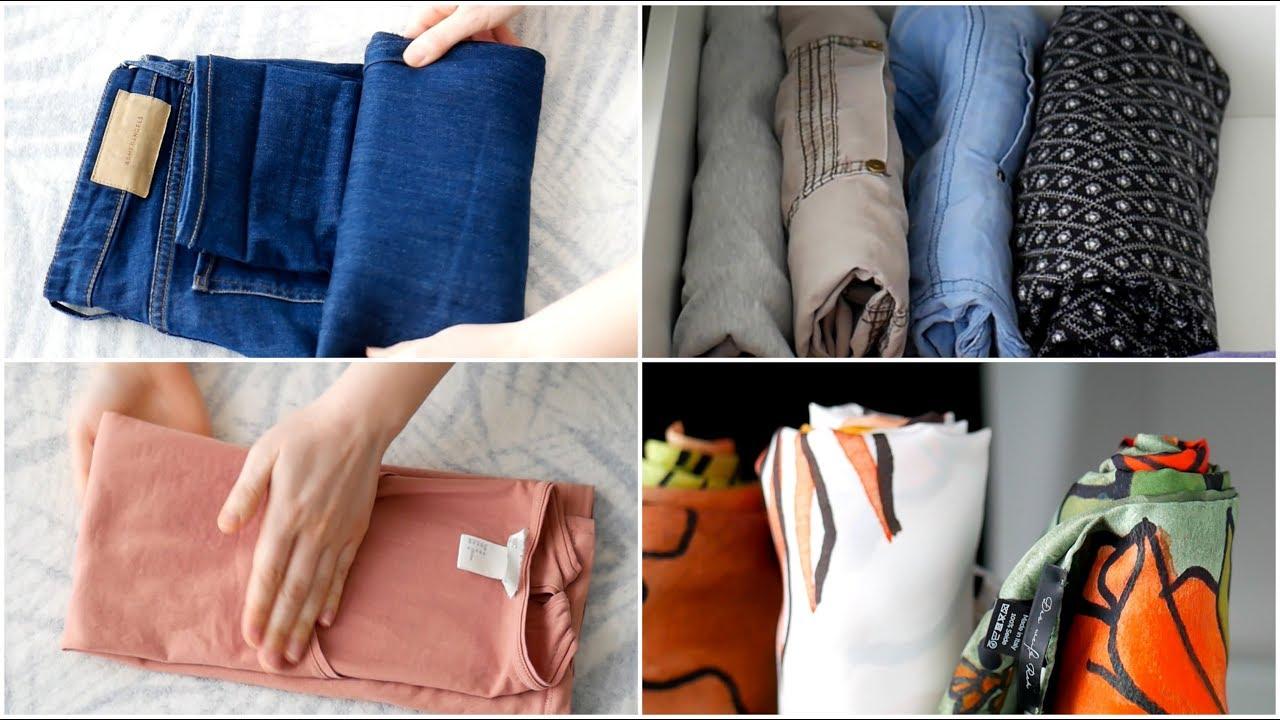 d15c1f7f5c89 Kleidung falten nach Konmari | Effektives & platzsparendes Aufbewahren von  Oberteilen & Hosen