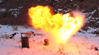 Pouring Liquid Oxygen on Grease Fire
