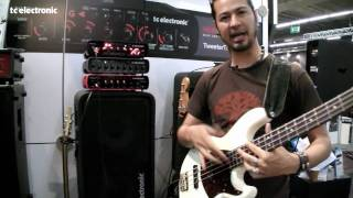 Uriah Duffy and TC Electronic RH750 at Musikmesse Frankfurt