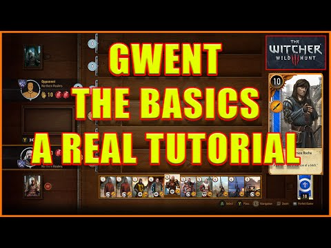 Witcher 3 - Gwent Tutorial Basics How To Play 101 - 4K Ultra HD
