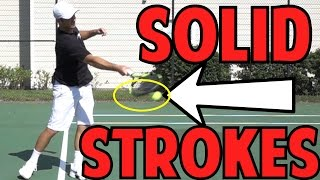 Hit Solid Tennis Ground Strokes | Using Full Racket Face