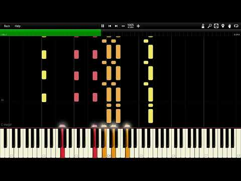 National Anthem - Chile Synthesia Piano MIDI