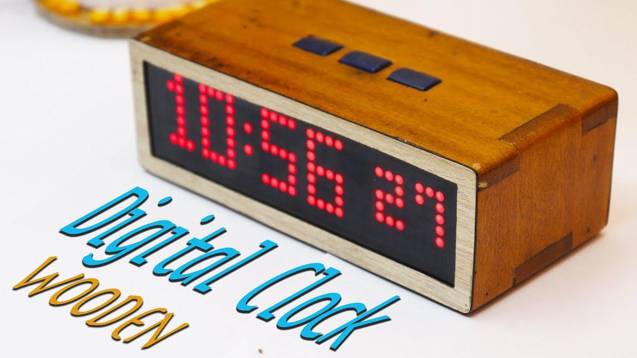Make a Vintage Looking Wooden #Digital Clock