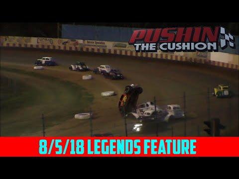Angell Park Speedway - 8/5/18 - Legends - Feature