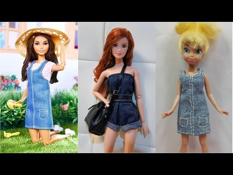 Easy diy Clothes for Barbies Doll Creative for Kids