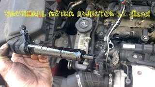 VAUXHALL OPEL ASTRA 1.3  DIESEL YEAR 2011 DIY HOW TO REMOVE A DIESEL INJECTOR ON A VAUXHALL