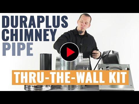 DuraPlus Chimney Pipe - Thru-The-Wall Kit