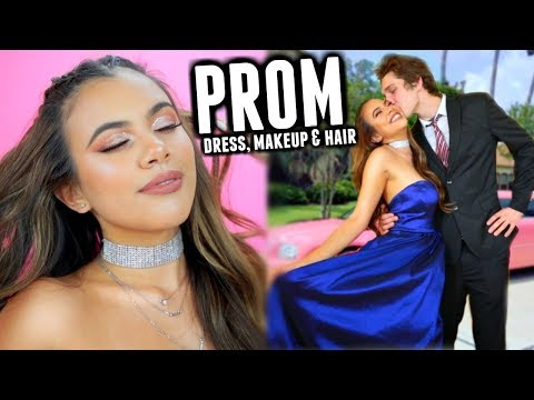 prom-2018:-dress,-makeup-&-hair-♡-(grwm)