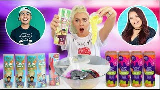 TESTING & MIXING Guava Juice + Karina Garica STORE BOUGHT SLIME GIANT SLIME SMOOTHIE! | NICOLE SKYES