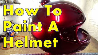 How To Paint A Helmet Step By Step / ALLKANDY WET WET PLUS / Merlot Red Kandy Painted Helmet