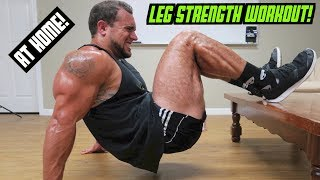 Legs Workout At Home | Bodyweight Strength Training
