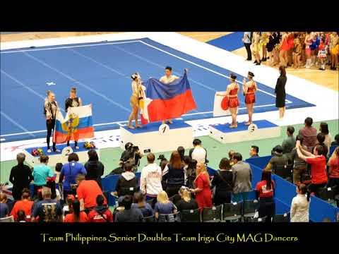 2017 9th CWC Team Philippines Team Iriga City   MAG Dancers   Cheer Dance Senior Doubles  Gold Medal