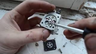 Разборка и изучение карбюратора триммера stihl fs 38/45/55