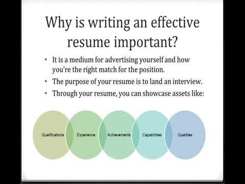 Tips For Writing Effective Resumes  Youtube