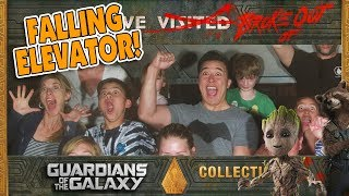 STUCK ON A FALLING ELEVATOR!!! Guardians of the Galaxy at Disneyland California Adventure!