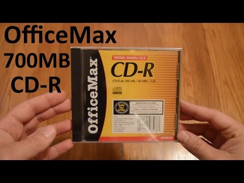 Unboxing OfficeMax 700MB CD-R