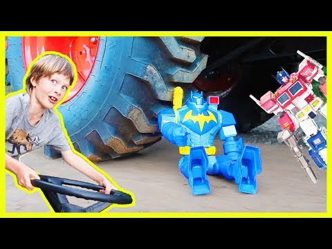 Tractor CRUSHING | Batman Vs Optimus Prime