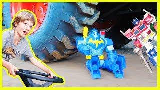 Tractor CRUSHING | Batman Vs Optimus Prime