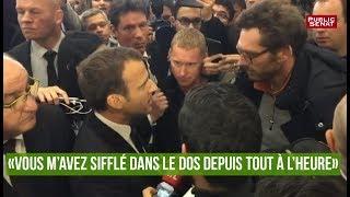 Macron : « Vous m'avez sifflé dans le dos depuis tout à l'heure ! »
