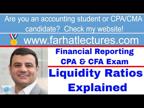 Liquidity ratios CFA exam ch 5 p 7