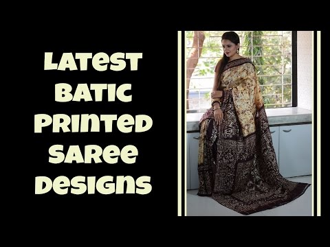 Latest Batic Printed Saree Designs