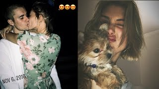 Justin Bieber & puppy Oscar Bieber in Hailey Baldwin Bieber year end list 2018
