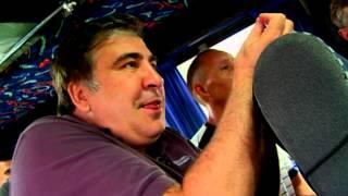 Саакашвили поехал на маршрутке из Одессы в Татарбунары