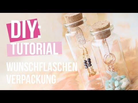 Schmuck machen: Wunschflaschen Verpackung ♡ DIY