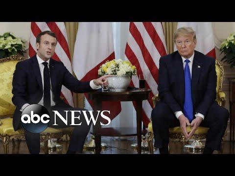 Trump blasts impeachment inquiry, clashes with allies at NATO summit