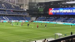 08 06 2021 Стадион Динамо На открытой тренировке сборной России