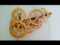 Leap Wooden Gear Clock Prototype by DeGregorio Clockworks