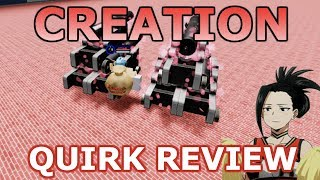 *NEW* Creation Quirk Review | Boku No Roblox: Remastered