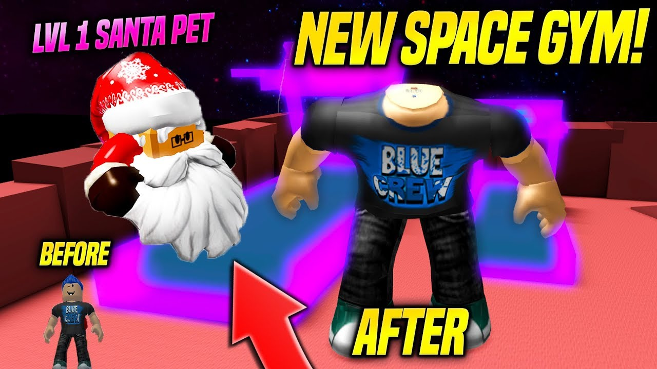 Roblox Weight Lifting Simulator 3 Speed Codes 2019 New Space Gym And Rare Limited Santa Pet In Weight Lifting Simulator 3 Update Roblox Intro To Bodybuilding