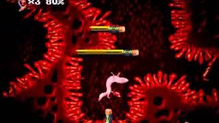 Earthworm Jim 2 - Super Nintendo - Level 3 and 4 - User video