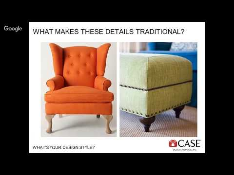 What's Your Design Style? Remodeling Webinar by CASE Design of San Jose and Santa Clara County
