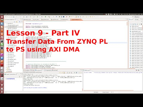 ZYNQ Training - session 09 - part IV - Transfer Data from PL
