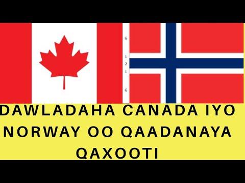 Dawladaha Canada iyo Norway oo qaadanaya qaxooti.