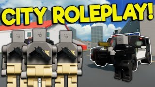 MAKING ARREST AS A COP IN LEGO CITY! - Brick Rigs Roleplay - Lego City Police Chase