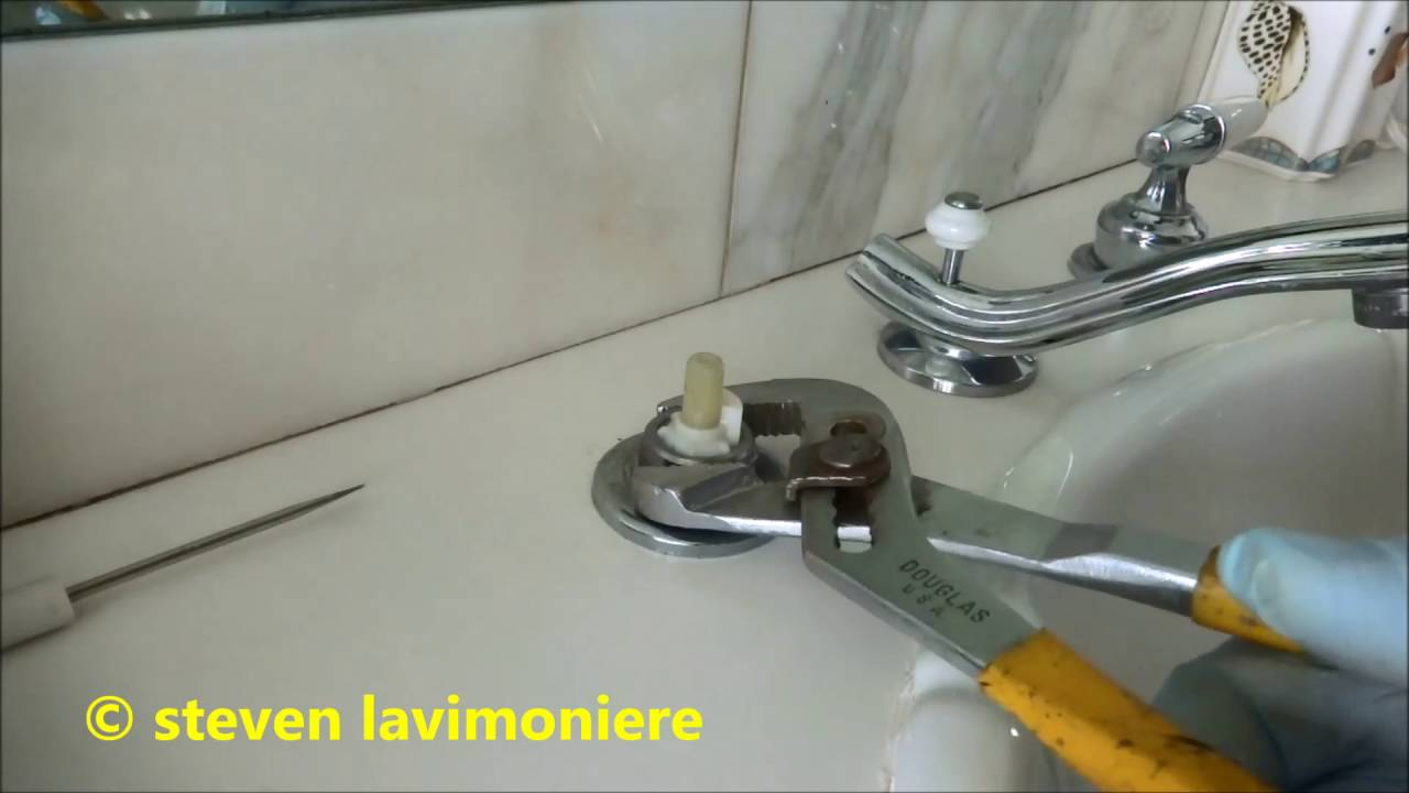 leaking delta faucet repaired - YouTube