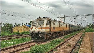 Surprise Visit to ECoR.ERODE WAP-7 37036 With Jodhpur-Puri SF Express.