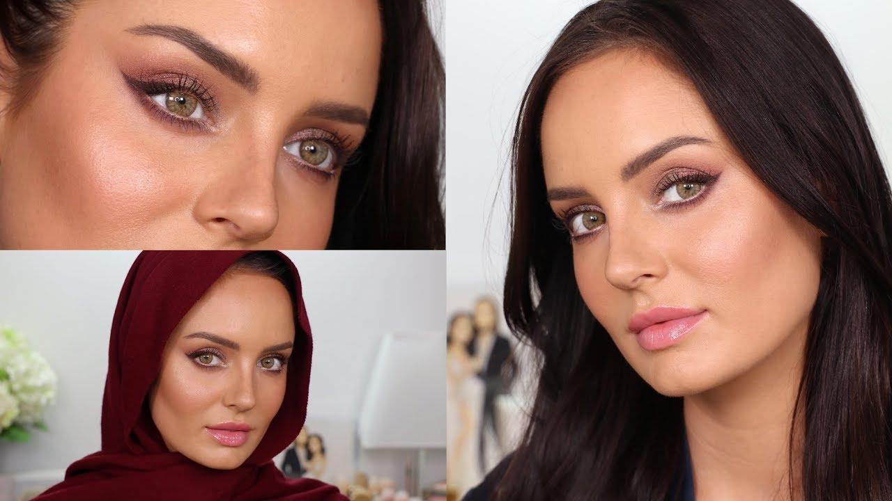 Eid Makeup: Burgundy Soft Glam Eyeshadow! Brown Wing & No Falsies!