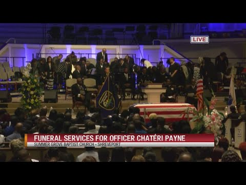 Funeral services for Shreveport Police Officer Chatéri Payne