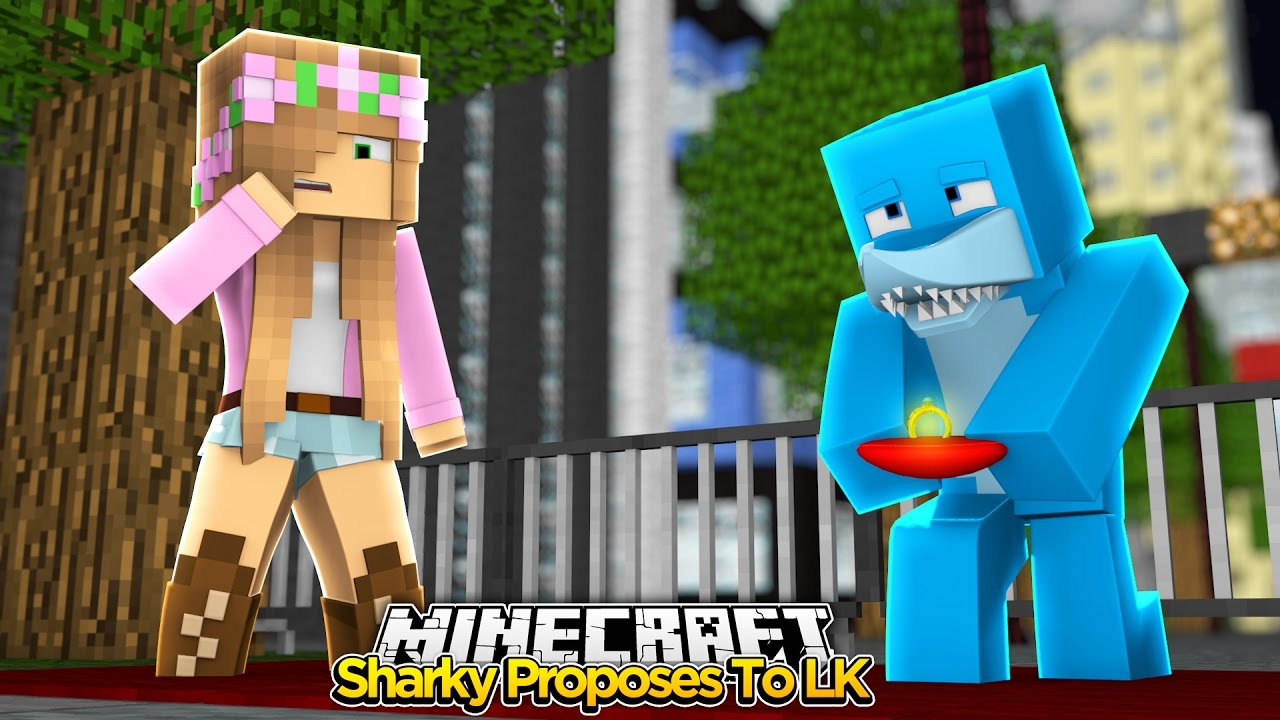 Minecraft – SHARKY PROPOSES TO LITTLE KELLY?!