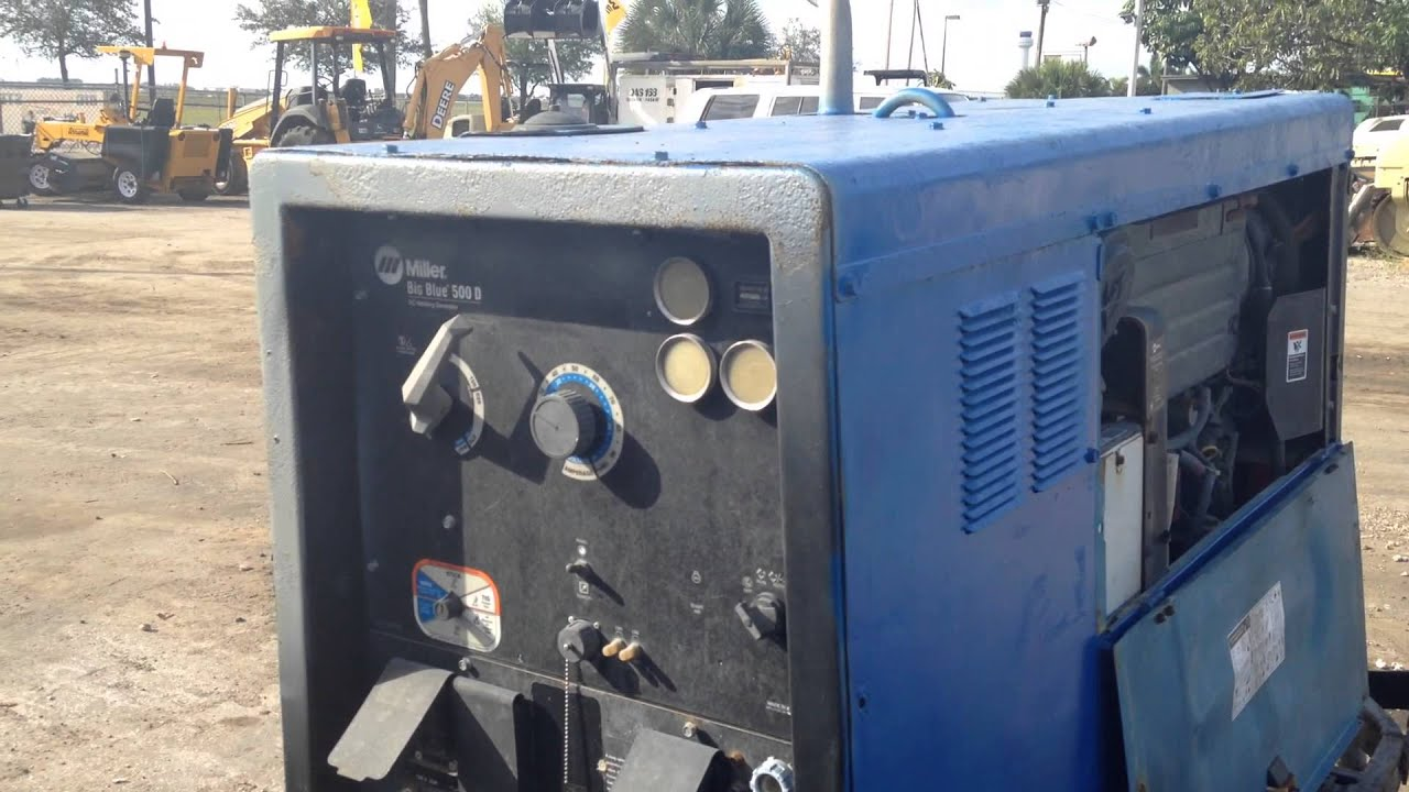 2007 miller big blue bb500 500 amp welder with deutz