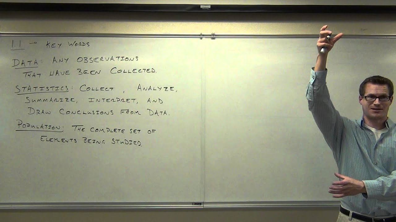 Statistics Lecture 1 1: The Key Words and Definitions For Elementary  Statistics