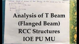 Analysis of Flanged Beam (T- Beam) | Design of RCC Strctures | Mumbai University | IOE , TU , PU