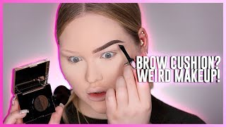 testing the weirdest brow product eyebrow cushion