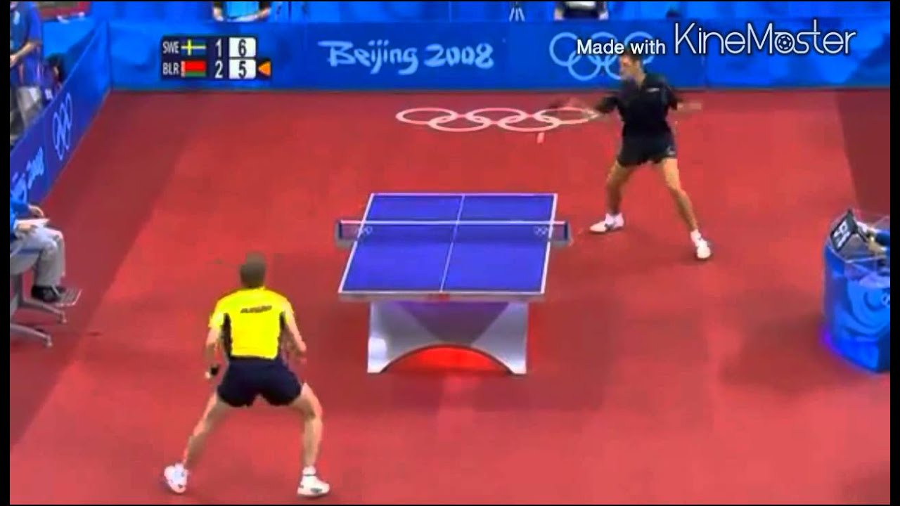 Table Tennis Olympic 2008 Persson Vs Samsonov Full Match