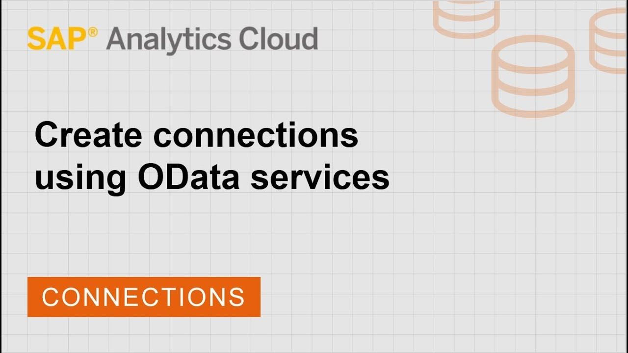 Create connections using OData Services | SAP | SAP