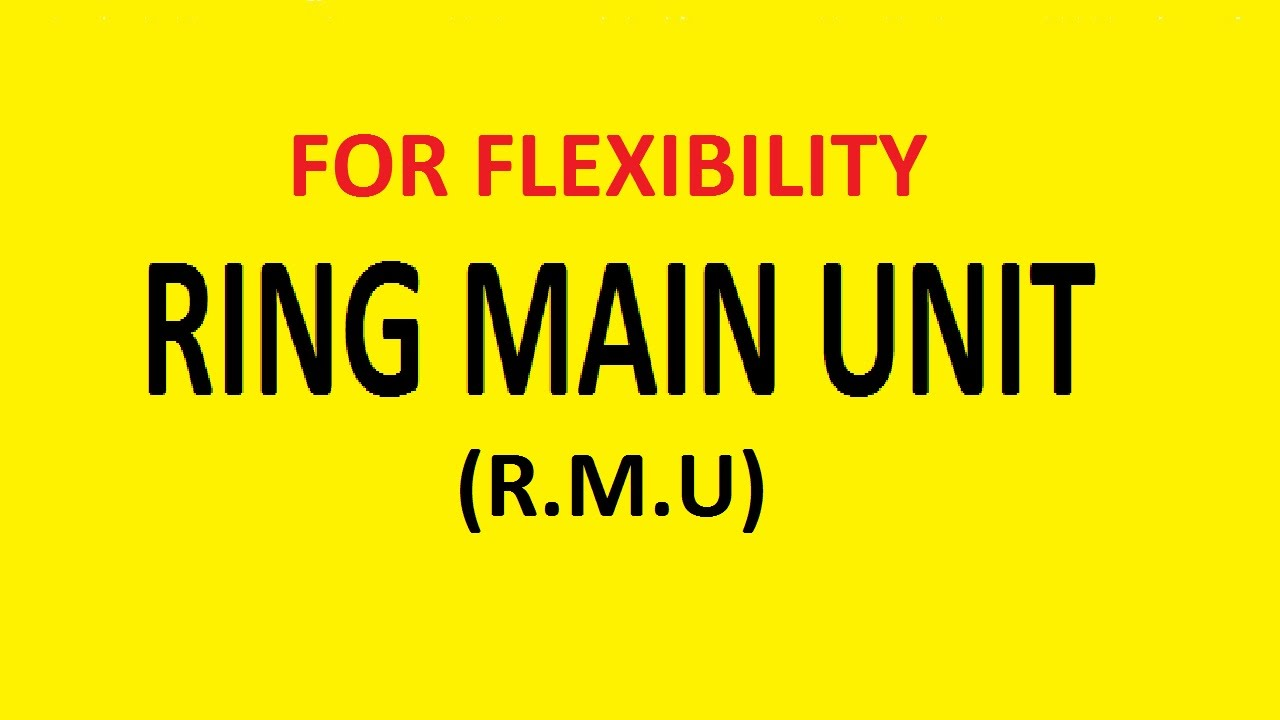 Ring main unit rmu basic presentation youtube ccuart Images